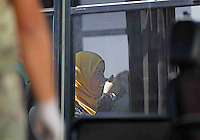 Operazione Mare Nostrum , immigrati in scendono al porto di Napoli dalla nave Virginio Fasan, impiegata nell operazione Mare Nostrum <br /> il primo pasto a bordo di un autobusMigrants  disembark in Naples Harbour <br />  from the ship &quot;Virginio Fasan&quot; of the Italian navy,  the  vessel involved in search-and-rescue operations the ship is engaged in the rescue operation &quot;Mare Nostrum&quot; in the Mediterranean Sea