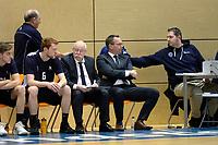 210 KM<br /> ZWOLLE - Basketbal, Landstede - Donar, Halve finale beker, seizoen 2017-2018, 18-02-2018, Donar coach Erik Braal rustig op de stoel