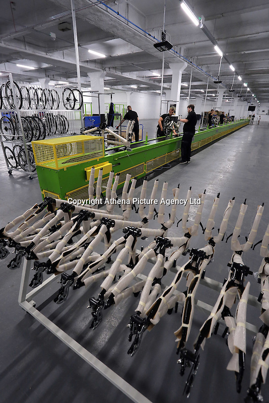 Pictured: The assembly line Monday 15 August 2016<br />