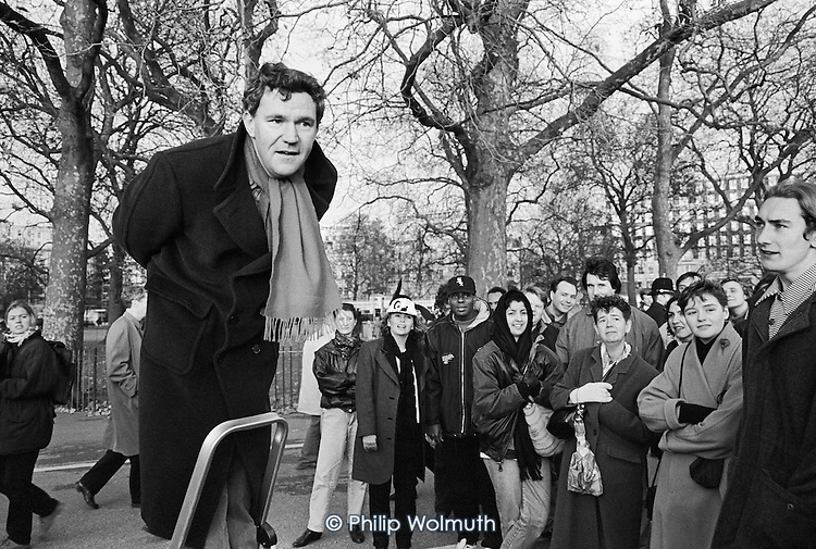 Public philosopher, Speakers' Corner, Hyde Park, London.