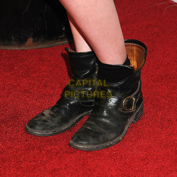 "Rumer Willis' boots .""Rage"" Video Game Launch Party held in Chinatown's Historical Central Plaza, Los Angeles, California, .30th September 2011..detail black biker  boots .CAP/ADM/BP.©Byron Purvis/AdMedia/Capital Pictures."
