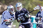 Los Angeles, CA 03/12/16 - Kaden McFarland (Utah State #5) in action during the Utah State vs Loyola Marymount MCLA Men's Division I game at Leavey Field at LMU.  Utah State defeated LMU 17-4.