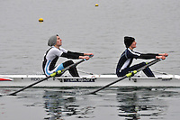 061 ReadingRC J16A.2x..Marlow Regatta Committee Thames Valley Trial Head. 1900m at Dorney Lake/Eton College Rowing Centre, Dorney, Buckinghamshire. Sunday 29 January 2012. Run over three divisions.