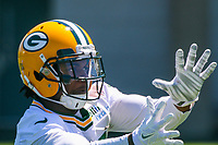 Green Bay Packers wide receiver Davante Adams (17) during an OTA on June 1, 2017 at Clark Hinkle Field in Green Bay, Wisconsin. (Brad Krause/Krause Sports Photography)