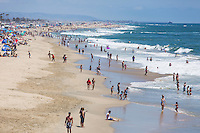 Looking South From the Huntington Beach Pier During Summer