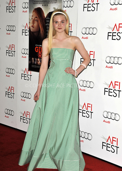 WWW.ACEPIXS.COM....November 7, 2012, Los Angeles, CA.......Elle Fanning arriving at the 'Ginger And Rosa' screening at AFI Fest 2012 at Grauman's Chinese Theatre on November 7, 2012 in Hollywood, California........By Line: Peter West/ACE Pictures....ACE Pictures, Inc..Tel: 646 769 0430..Email: info@acepixs.com