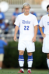 09 September 2011: Duke's Ryan Brown. The University of Virginia Cavaliers defeated the Duke University Blue Devils 1-0 at Koskinen Stadium in Durham, North Carolina in an NCAA Division I Men's Soccer game.