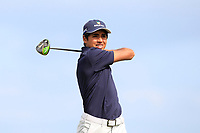 Yurav Premlall (RSA) on the 9th tee during Round 2 of The East of Ireland Amateur Open Championship in Co. Louth Golf Club, Baltray on Sunday 2nd June 2019.<br /> <br /> Picture:  Thos Caffrey / www.golffile.ie<br /> <br /> All photos usage must carry mandatory copyright credit (© Golffile | Thos Caffrey)