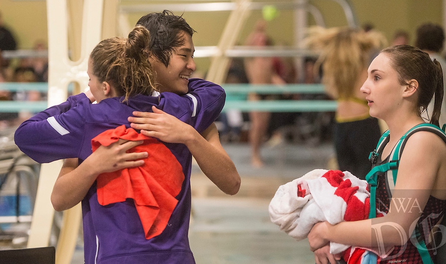 NWA Democrat-Gazette/ANTHONY REYES @NWATONYR<br /> The Arkansas State Dive meet Friday, Feb. 24, 2017 at the Bentonville Community Center in Bentonville.
