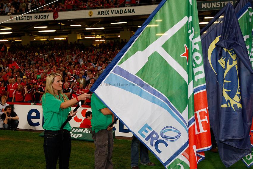 Photo: Richard Lane/Richard Lane Photography. .Munster v Toulouse. Heineken Cup Final. 24/05/2008. .Heineken Cup flags.