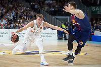 Real Madrid Luka Doncic and FC Barcelona Lassa Victor Claver during Turkish Airlines Euroleague match between Real Madrid and FC Barcelona Lassa at Wizink Center in Madrid, Spain. December 14, 2017. (ALTERPHOTOS/Borja B.Hojas) /NortePhoto.com NORTEPHOTOMEXICO