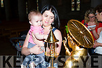 Elaine and Ava Dennehy visit the relic of St Anthony in St Mary's Cathedral on Friday
