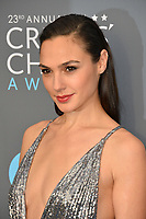 Gal Gadot at the 23rd Annual Critics' Choice Awards at Barker Hangar, Santa Monica, USA 11 Jan. 2018<br /> Picture: Paul Smith/Featureflash/SilverHub 0208 004 5359 sales@silverhubmedia.com