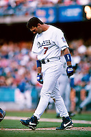 Paul Konerko of the Los Angeles Dodgers participates in a Major League Baseball game at Dodger Stadium during the 1998 season in Los Angeles, California. (Larry Goren/Four Seam Images)