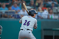 Craig Dedelow (26) of the Winston-Salem Dash at bat against the Down East Wood Ducks at Grainger Stadium Field on May 17, 2019 in Kinston, North Carolina. The Dash defeated the Wood Ducks 8-2. (Brian Westerholt/Four Seam Images)