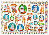 Alfredo, CHRISTMAS SANTA, SNOWMAN, decoupage, paintings(BRTOD1307,#X#,#DP#) Weihnachten, Navidad, illustrations, pinturas