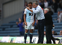 Blackburn Rovers' Elliott Bennett and Blackburn Rovers' Manager Tony Mowbray<br /> <br /> Photographer Rachel Holborn/CameraSport<br /> <br /> The EFL Sky Bet Championship - Blackburn Rovers v Aston Villa - Saturday 15th September 2018 - Ewood Park - Blackburn<br /> <br /> World Copyright &copy; 2018 CameraSport. All rights reserved. 43 Linden Ave. Countesthorpe. Leicester. England. LE8 5PG - Tel: +44 (0) 116 277 4147 - admin@camerasport.com - www.camerasport.com