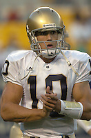 3 September 2005:  Brady Quinn...Notre Dame defeated Pittsburgh 42-21 September 3, 2005 at Heinz Field in Pittsburgh, PA..Mandatory Credit:  Randy Litzinger/Icon SMI