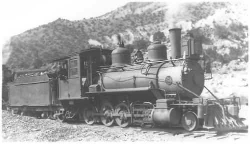 3/4 engineer's-side view of D&amp;RG #283 at Embudo.<br /> D&amp;RG  Embudo, NM  Taken by Perry, Otto C. - 10/20/1920