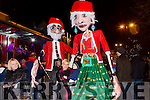 Enjoying the switching on of the christmas lights in Castleisland on Saturday were Bridjetta Egan, Eamon Egan