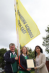 Principal Ambrose McGinnity with Breda O'Connell and Antoinette Hassett, Senior Health Promotion Officer from HSE Dublin North East at the Raising of the New Health Awareness Initiative Flag at Callystown National School, Clogherhead....(Photo credit should read Jenny Matthews www.newsfile.ie)....This Picture has been sent you under the conditions enclosed by:.Newsfile Ltd..The Studio,.Millmount Abbey,.Drogheda,.Co Meath..Ireland..Tel: +353(0)41-9871240.Fax: +353(0)41-9871260.GSM: +353(0)86-2500958.email: pictures@newsfile.ie.www.newsfile.ie.