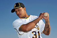 Feb 28, 2010; Bradenton, FL, USA; Pittsburgh Pirates  outfielder Jose Tabata (31) during  photoday at Pirate City. Mandatory Credit: Tomasso De Rosa/ Four Seam Images
