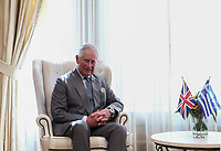 Pictured: Prince Charles in Athens, Greece. Wednesday 09 May 2018 <br /> Re: Official visit of HRH Prnce Charles with Greek Prime Minister Alexis at the Maximos Mansion (Megaro Maximou) in Athens, Greece.