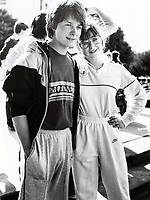 Michael J Fox with Kari MIchaelson (Gimme a Break) 1982<br /> Photo By John Barrett/PHOTOlink.net