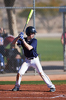 Logan Erickson (49), from Polson, Montana, while playing for the Padres during the Under Armour Baseball Factory Recruiting Classic at Red Mountain Baseball Complex on December 29, 2017 in Mesa, Arizona. (Zachary Lucy/Four Seam Images)