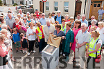 Unveiling : Hillary Fannin, Irish Times journalist and author unveiling the plaque to commemorate writer Maeve Binchy in Ballybunion on Friday last.