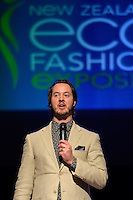 Thomas Buchanan, New Zealand Eco Fashion Exposed Maintain &amp; Sustain at Notre Dame Performing Arts Centre, Lower Hutt, New Zealand on Friday 25 July 2014. <br /> Photo by Masanori Udagawa. <br /> www.photowellington.photoshelter.com.