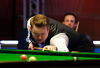 26th February 2020; Waterfront, Southport, Merseyside, England; World Snooker Championship, Coral Players Championship; Shaun Murphy (ENG) at the table during his first round match against David Gilbert (ENG)