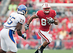 Wisconsin Badgers Lance Kendricks (84) carries the ball during an NCAA college football game against the San Jose State Spartans on September 11, 2010 at Camp Randall Stadium in Madison, Wisconsin. The Badgers beat San Jose State 27-14. (Photo by David Stluka)
