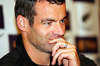All Whites coach captain Ryan Nelsen..World Cup Football play-off press conference - All Whites v Bahrain build-up at Wellington Town Hall , Wellington. Tuesday, 10 November 2009. Photo: Dave Lintott / lintottphoto.co.nz