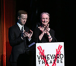 Cody Lassen and Kathleen Chalfant on stage during the Vineyard Theatre Gala 2018 honoring Michael Mayer at the Edison Ballroom on May 14, 2018 in New York City.