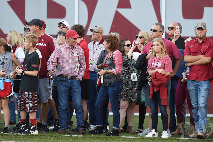 NWA Democrat-Gazette/MICHAEL WOODS &bull; @NWAMICHAELW<br /> University of Arkansas Razorbacks vs Ole Miss Saturday, October 15, 2016 at Razorback Stadium in Fayetteville.