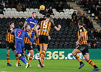 Bolton Wanderers' David Wheater heads across the penalty area<br /> <br /> Photographer Andrew Kearns/CameraSport<br /> <br /> The EFL Sky Bet Championship - Hull City v Bolton Wanderers - Tuesday 1st January 2019 - KC Stadium - Hull<br /> <br /> World Copyright © 2019 CameraSport. All rights reserved. 43 Linden Ave. Countesthorpe. Leicester. England. LE8 5PG - Tel: +44 (0) 116 277 4147 - admin@camerasport.com - www.camerasport.com