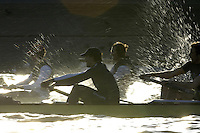 PUTNEY, LONDON, ENGLAND, 05.03.2006, Pre 2006 Boat Race Fixtures,.   © Peter Spurrier/Intersport-images.com - OUBC, fore ground and right  No. 7 Tom Parker and stroke Bastien Ripoll,[Mandatory Credit Peter Spurrier/ Intersport Images] Varsity Boat Race, Rowing Course: River Thames, Championship course, Putney to Mortlake 4.25 Miles