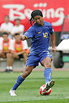 10 August 2008: Ronaldinho (BRA) (10).  The men's Olympic soccer team of Brazil defeated the men's Olympic soccer team of New Zealand 5-0 at Shenyang Olympic Sports Center Wulihe Stadium in Shenyang, China in a Group C round-robin match in the Men's Olympic Football competition.