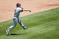 Brent Seifert (4) of the Missouri State Bears throws to first base during a game against the Wichita State Shockers in the 2012 Missouri Valley Conference Championship Tournament at Hammons Field on May 23, 2012 in Springfield, Missouri. (David Welker/Four Seam Images)