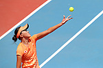 Erina Hayashi (JPN), <br /> AUGUST 19, 2018 - Tennis : <br /> Mixed Doubles Round 1 <br /> at Jakabaring Sport Center Tennis Court <br /> during the 2018 Jakarta Palembang Asian Games <br /> in Palembang, Indonesia. <br /> (Photo by Yohei Osada/AFLO SPORT)