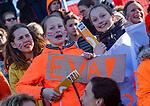 UTRECHT - Supporters van Eva de Goede    tijdens de Pro League hockeywedstrijd wedstrijd , Nederland-China (6-0). COPYRIGHT  KOEN SUYK
