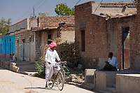 Indian men chatting at Jawali village in Rajasthan, Northern India