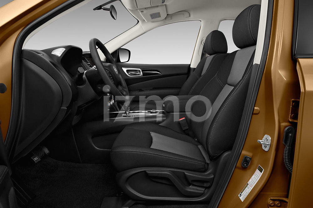 Front seat view of 2018 Nissan Pathfinder S 5 Door SUV Front Seat  car photos