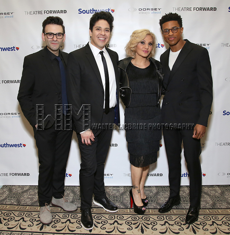 Joe Iconis, George Salazar, Orfeh and Jeremy Pope during a reception for Theatre Forward's Chairman's Awards Gala at the Pierre Hotel on April 8, 2019 in New York City.