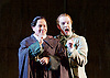 The Barber of Seville <br /> by Rossini <br /> English National Opera, London Coliseum, London, Great Britain <br /> Rehearsal <br /> 25th September 2015 <br /> <br /> Eleazar Rodriguez as Count Almaviva <br /> <br /> Morgan Pearce as Figaro <br /> <br /> <br /> Photograph by Elliott Franks <br /> Image licensed to Elliott Franks Photography Services