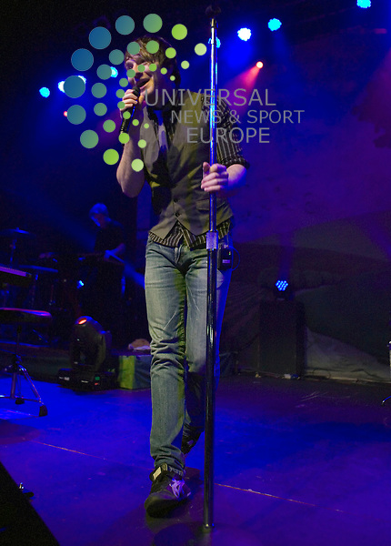 """Owl City, the musical project of Adam Young from Minnesota, plays a rare UK live gig including his massive hit """"Fireflies"""" at the O2 ABC in Glasgow on Wednesday 7th September 2011.   . .Pictures: Peter Kaminski/Universal News and Sport (Europe)2011"""