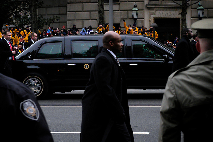 The President's limousine during the 2005 Inaugural parade along Pennsylvania Ave.
