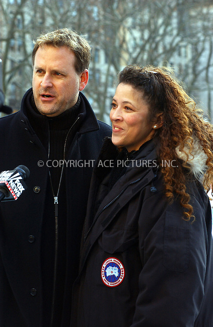 WWW.ACEPIXS.COM . . . . . ....NEW YORK, JANUARY 10 2006....Tai Babilonia and Dave Coulier 'Skating With Celebrities' at Bryant Park. ....Please byline: KRISTIN CALLAHAN - ACEPIXS.COM.. . . . . . ..Ace Pictures, Inc:  ..Philip Vaughan (212) 243-8787 or (646) 679 0430..e-mail: info@acepixs.com..web: http://www.acepixs.com