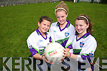 FUN IN THE SUN: Katie McCarthy, Blathin Griffin and Molly Savage who took part in the Cul Camps in Churchill last week.